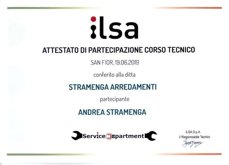 Certificato Stramenga ilsa