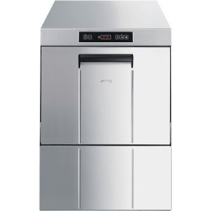SMEG - Lavastoviglie sottobanco professionale, cesto 500x500 mm a singola parete, dosatore detergente, addolcitore UD503DS