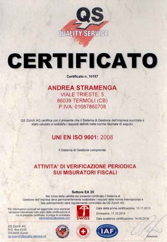 Certificato Stramenga